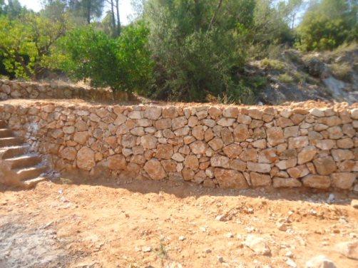 Construcción de muros de fabrica piedras presupuesto en Alicante