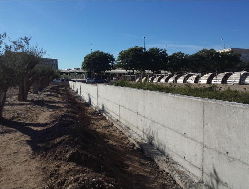 muro hormigón alicante