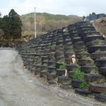 tire retaining wall design
