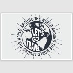 Lets Go Travel Inspirational Poster (12 x 18 inch)