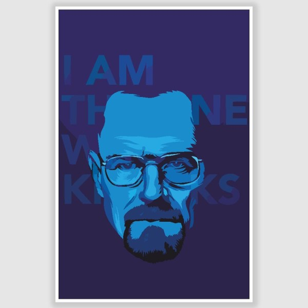 Breaking Bad -  I Am The One Who Knocks Poster (12 x 18 inch)