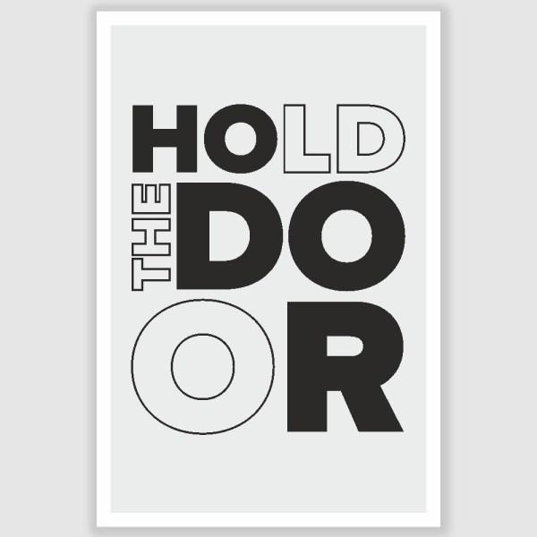 Game of Thrones Hodor Hold The Door Poster (12 x 18 inch)