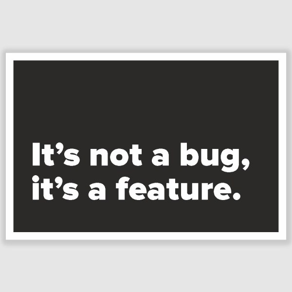 Its not a bug Funny Poster (12 x 18 inch)