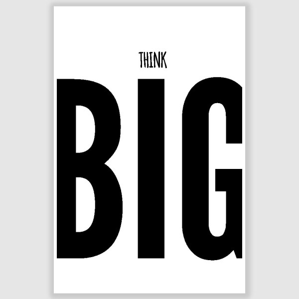 Think Big Inspirational Poster (12 x 18 inch)