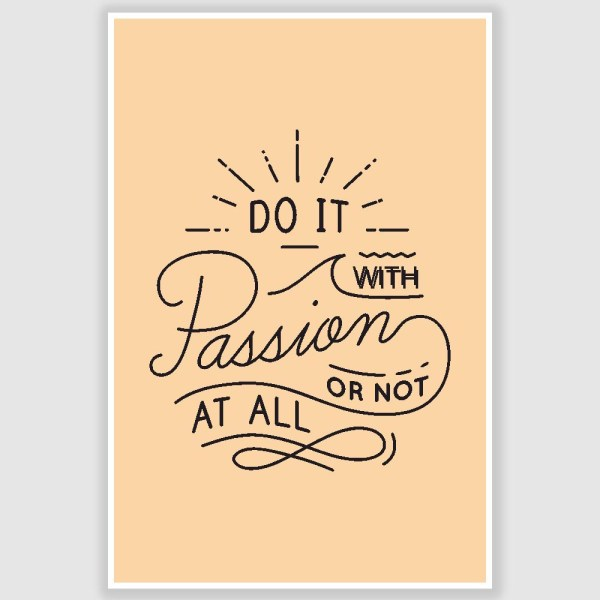 Do It With Happiness Inspirational Poster (12 x 18 inch)