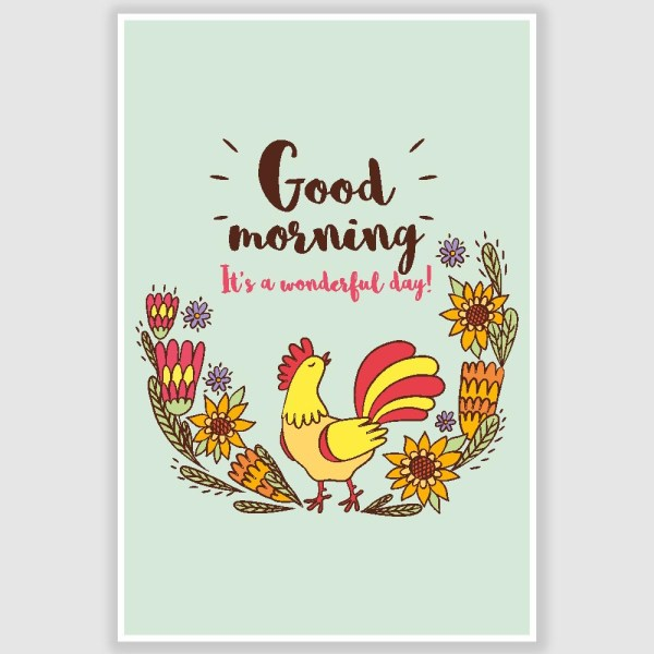 Good Morning Poster (12 x 18 inch)