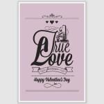 Happy Valentines Day Poster (12 x 18 inch)