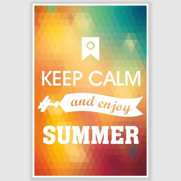 Keep Calm and Enjoy Summer Poster (12 x 18 inch)