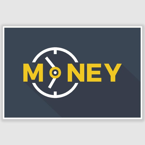Time Money Inspirational Poster (12 x 18 inch)