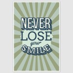 Never Lose Your Smile Inspirational Poster (12 x 18 inch)