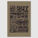 The Best Way Out Motivational Quotes Retro Poster (12 x 18 inch)