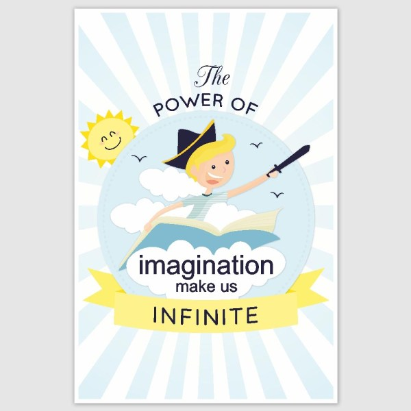 Power Of Imagination Poster (12 x 18 inch)