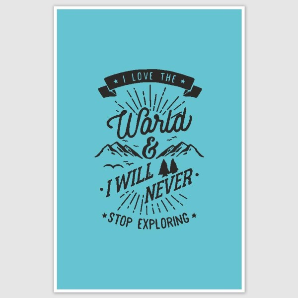 Never stop exploring Motivation Poster (12 x 18 inch)