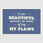 I am Beautiful Inspirational Poster (12 x 18 inch)