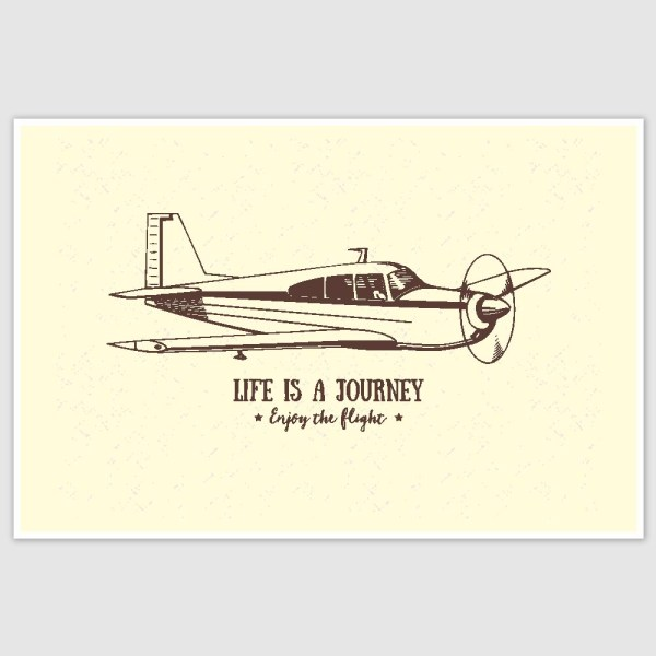 Life is a Journey Inspirational Poster (12 x 18 inch)