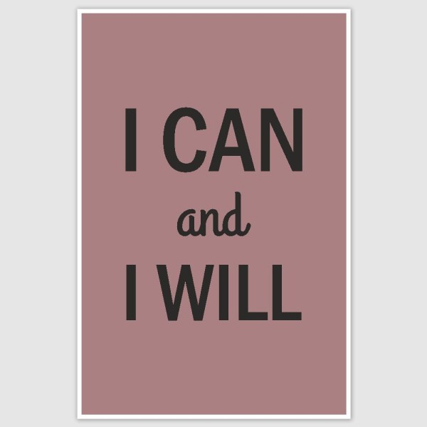 I can Inspirational Poster (12 x 18 inch)