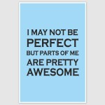 I may not be perfect Poster (12 x 18 inch)