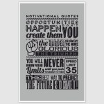 Motivational Quotes Poster (12 x 18 inch)