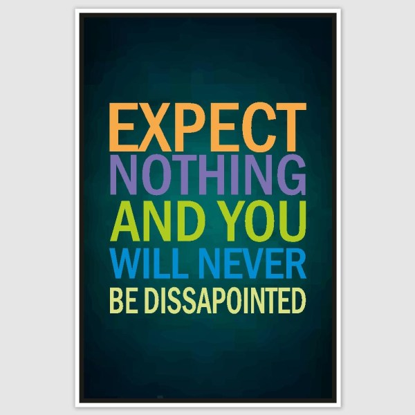 Expect Nothing Poster (12 x 18 inch)