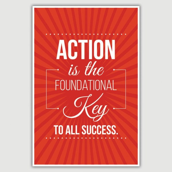 Action Inspirational Poster (12 x 18 inch)