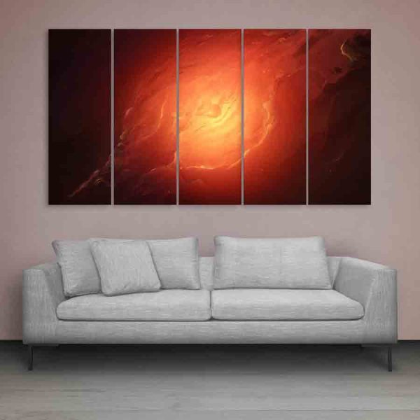 Multiple Frames Beautiful Space Wall Painting (150cm X 76cm)