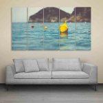 Multiple Frames Beautiful Lake Wall Painting (150cm X 76cm)