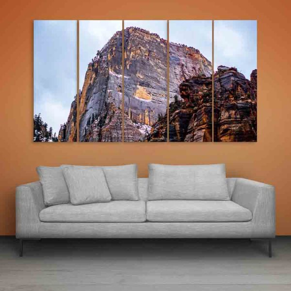 Multiple Frames Beautiful Mountain Wall Painting (150cm X 76cm)