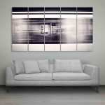 Multiple Frames Moving Train Wall Painting (150cm X 76cm)