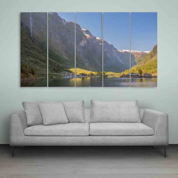 Multiple Frames Beautiful Norway Wall Painting (150cm X 76cm)