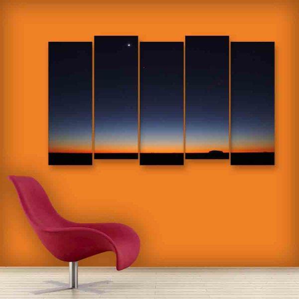 Multiple Frames Beautiful Night Sky Wall Painting (150cm X 76cm)