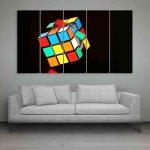 Multiple Frames Rubik Cube Wall Painting (150cm X 76cm)