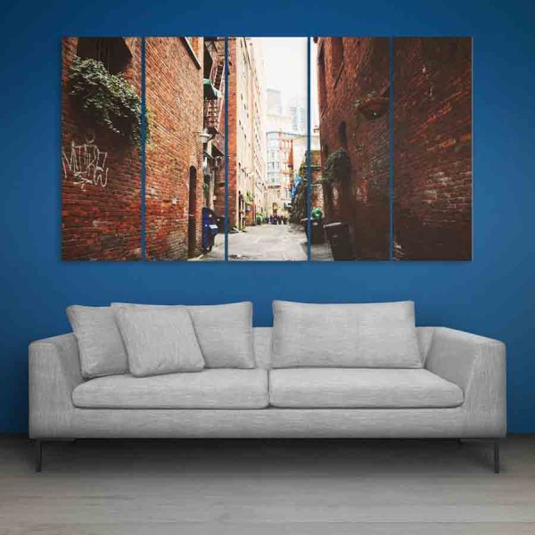Multiple Frames Beautiful City Wall Painting (150cm X 76cm)