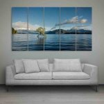 Multiple Frames Beautiful Sea Wall Painting (150cm X 76cm)