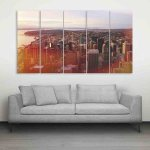 Multiple Frames Beautiful Stormy Sea Wall Painting (150cm X 76cm)