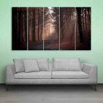 Multiple Frames Beautiful Sunbeam Wall Painting (150cm X 76cm)