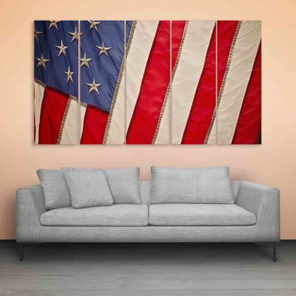 Multiple Frames USA Flag Wall Painting (150cm X 76cm)