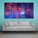 Multiple Frames Space Universe Wall Painting (150cm X 76cm)