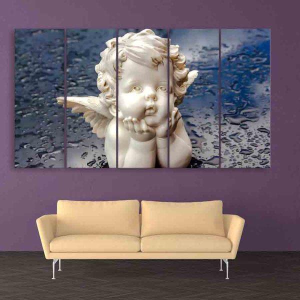 Multiple Frames Beautiful Angel Wall Painting (150cm X 76cm)