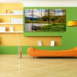 Multiple Frames Scenic Boat Wall Painting (150cm X 76cm)