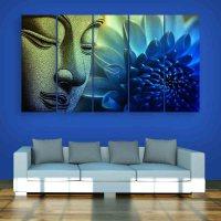 Multiple Frames Buddha Beautiful Wall Painting (150cm X ...