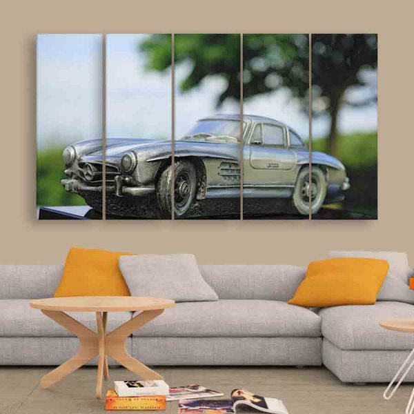 Multiple Frames Miniature Car Wall Painting (150cm X 76cm)