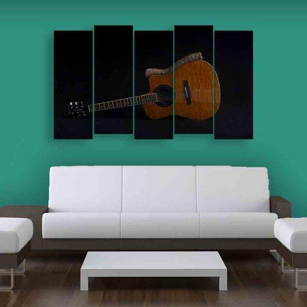 Multiple Frames Beautiful Guitar Wall Painting (150cm X 76cm)