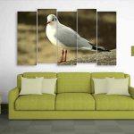 Multiple Frames Beautiful Bird Wall Painting (150cm X 76cm)