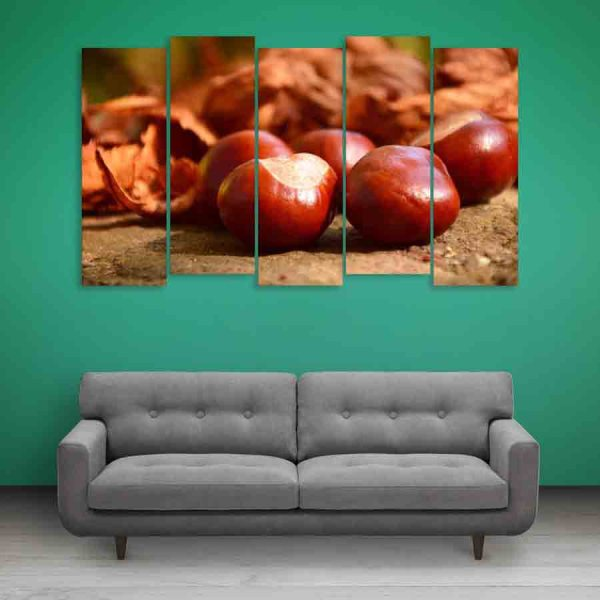 Multiple Frames Chestnut Wall Painting (150cm X 76cm)