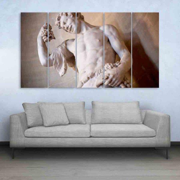 Multiple Frames Greek Scenery Wall Painting (150cm X 76cm)