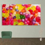 Multiple Frames Colorful Candies Wall Painting (150cm X 76cm)