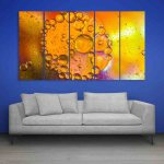 Multiple Frames Colors Light Wall Painting (150cm X 76cm)