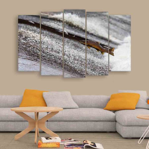 Multiple Frames Fish Wall Painting (150cm X 76cm)