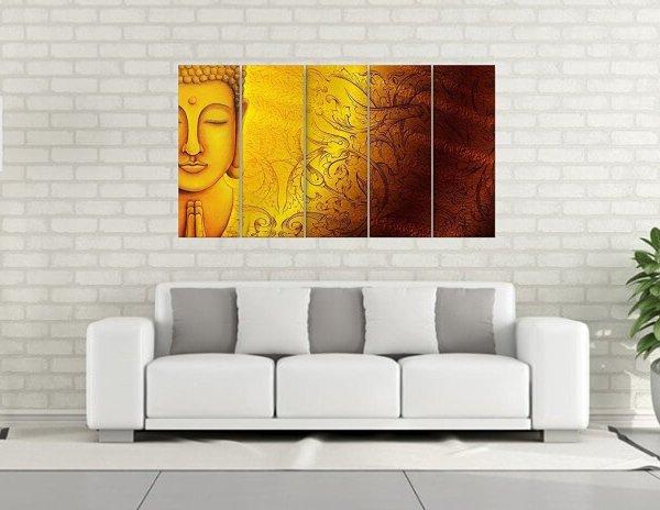 inephos 10369 multiple frames buddha wall painting