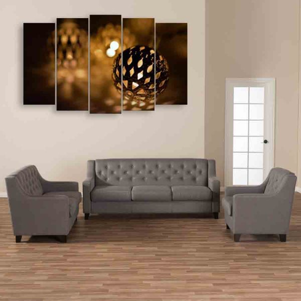 Multiple Frames Lights Wall Painting (150cm X 76cm)